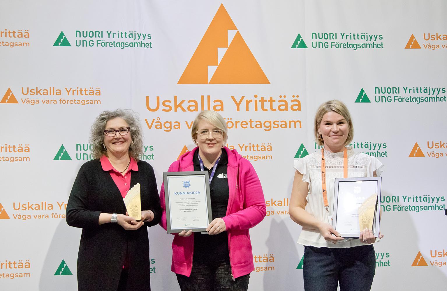 Vuoden Pikkuyrittäjät -kummit 2019